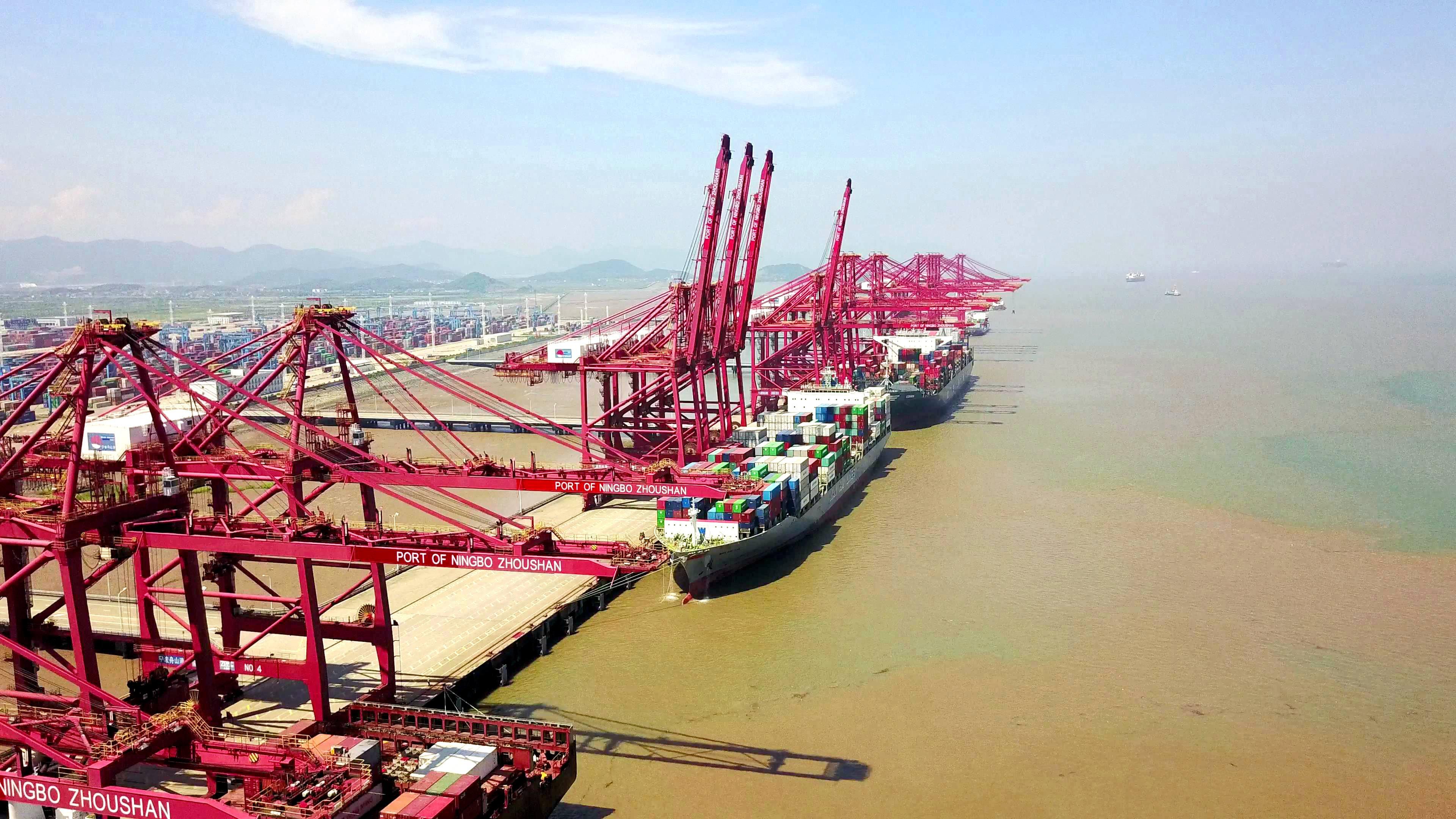 7月20日,宁波梅山岛国际集装箱码头有限公司自2010年8月开港以来已